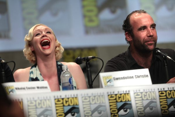 Gwendoline Christie and Rory McCann at San Diego Comic Con, 25 July 2014