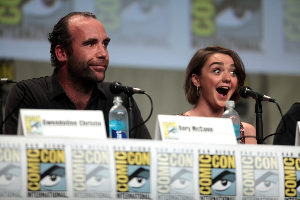 Rory McCann and Maisie Williams at San Diego Comic Con, 25 July 2014