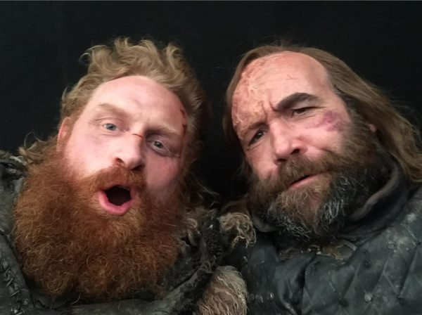 Kristofer Hivju and Rory McCann from the set of Game of Thrones (1 of 4) posted to Instagram 7 May 2019