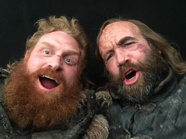 Kristofer Hivju and Rory McCann from the set of Game of Thrones (2 of 4) posted to Instagram 7 May 2019