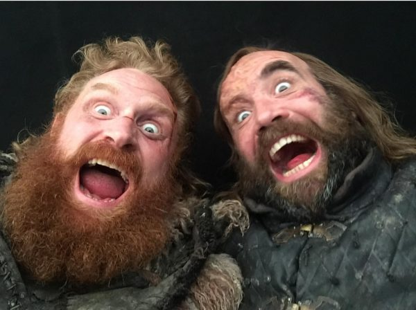 Kristofer Hivju and Rory McCann from the set of Game of Thrones (3 of 4) posted to Instagram 7 May 2019