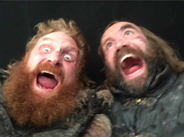 Kristofer Hivju and Rory McCann from the set of Game of Thrones (4 of 4) posted to Instagram 7 May 2019